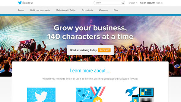 Relaunch of Twitter for Business